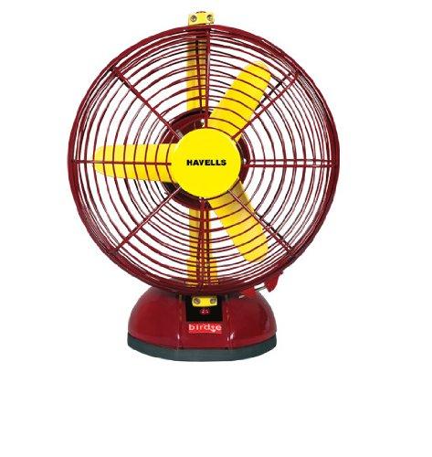 Havells Birdie 230mm Personal Fan (Yellow Maroon)