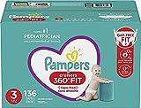 Подгузники Pampers Pull On Cruisers Одноразовые детские подгузники 360 ° Fit с эластичным поясом Огромный набор (упаковка может варьироваться), размер 3, 136 штук