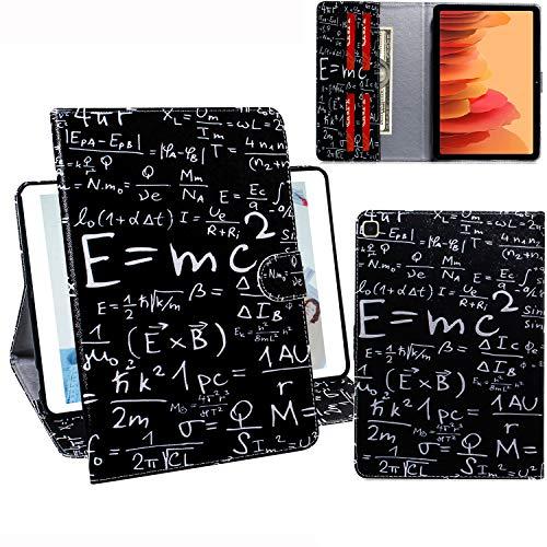 C/N DodoBuy Hülle für Samsung Galaxy Tab A7, PU Leder Tasche Schutzhülle Cover Hülle Wallet Brieftasche Standfunktion mit Kartenfächer - Formel