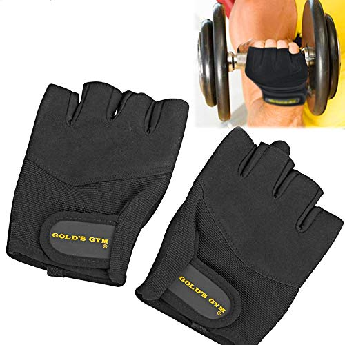 Gold's Gym Classic Training Gloves, Workout Gloves, Weightlifting, Fitness, Exercise (Medium)