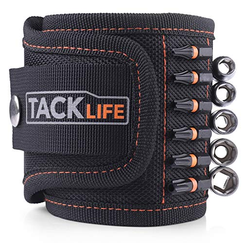 TACKLIFE 2-in-1 Magnetic Wristband and Waistband With Strong Magnets, Waistband With Two Buckles, Ideal for Professional and Home Using - MWB1A