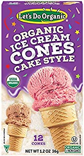 Let's Do...Organic Ice Cream Cones, 12 Count Boxes (Pack of 12)