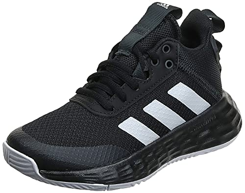 adidas OWNTHEGAME 2.0 K, Scarpe da Basket, Core Black/Ftwr White/Carbon, 33 EU