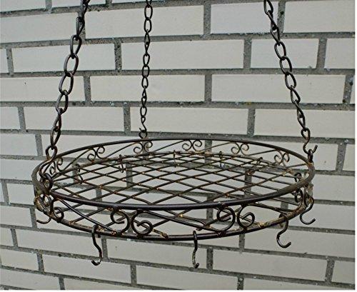 Deckenhänger Hängekorb *Küchenhänger* Korb Eisen rost antikbraun Ø 30cm Landhaus