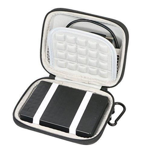 Marktore Stoßsichere Tasche für 2.5' inch Toshiba / Seagate l/Transcend/ Samsung M3 / WD My Passport Hard Drive HDD tragbare, externe Festplatte 1TB 2TB
