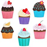 60 Pieces Colorful Cupcakes Cutouts Cupcake Paper Cutouts Birthday Bulletin...