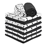 Talvania Kitchen Dish Towels, 100% Cotton Dobby Weave Terry Towel Set, 12 Pack Soft and Absorbent...