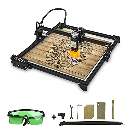 Ortur Laser Master 2 Engraver, Eye-Protection 7W CNC Laser Cutter and Engraver Machine 3000mm/min Wood Glass Plastic Cutting and Engraving Machine LU1-2
