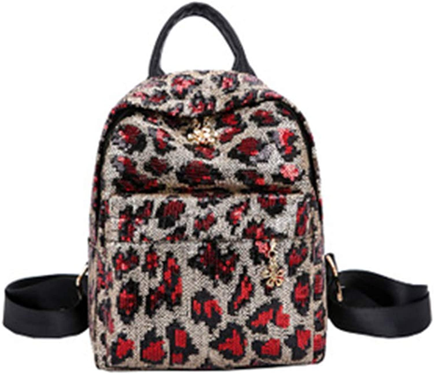 22ab440eac7d Stylish and Simple Sequined Print Trend Backpack, MultiFunctional ...
