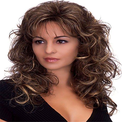 Long Love Wave mixage Full Volume A Grandi ondulés perruque cheveux courts