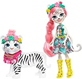 Enchantimals Muñeca Tadley Tiger con mascota Kitty White Tiger y accesorios (Mattel GFN57)