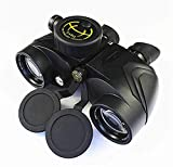 Binoculares telescópicos Binoculares HD 7x50 con brújula Telescopio náutico a prueba de agua Para uso en exteriores Adecuado para viajar para ver el juego de fútbol The Stars,etc.Para uso en exteriore
