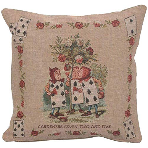 Butlerame The Garden Alicia en el país de Las Maravillas Fundas Decorativas Decorativas con Cojines Decorativos Hechos a Mano Cojines Decorativos