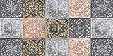 De'Carpet Alfombra VINILICA Estampada Vinilo Base Goma Natural FÁCIL Limpieza 100% Antideslizante Acolchada BALDOSA Vintage (50X80cm)