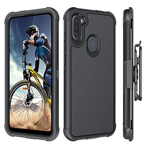 BENTOBEN Samsung A11 Case, Samsung Galaxy A11 Case, Heavy Duty Rugged Full-Body Hybrid Hard PC Cover Soft TPU Shockproof Bumper Protective Kickstand Belt Clip Holster Case for Galaxy A11 6.4