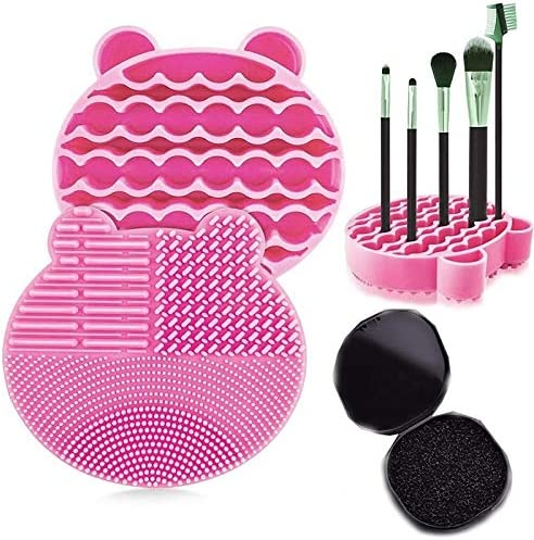 Makeup Brush Bargain Cleaner Limited time for free shipping Kit 2 in 1 Mat Tray Cleaning Silicone