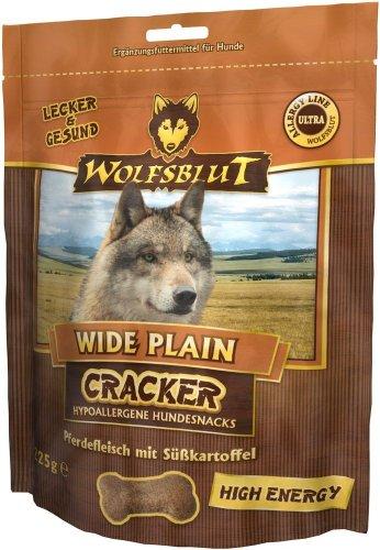 Wolfsblut | Wide Plain Cracker | 225 g | Cheval | Snack | Nourriture pour chien | Sans céréales