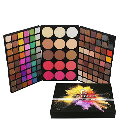 Allbesta 123 Farben Professional Multifunction Make-up Paletten 9 Farben Puder+6 Farben Blush+108 Farben Lidschatten Palette