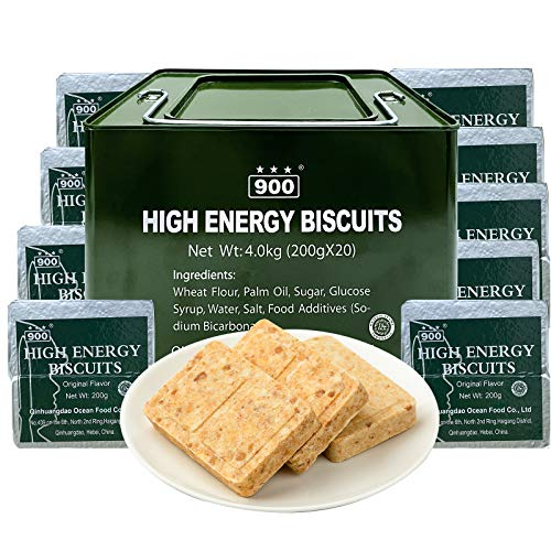 900 Emergency Food Ration Bars for 15 days Survival Tabs 19000 Calorie with Tin Box Package