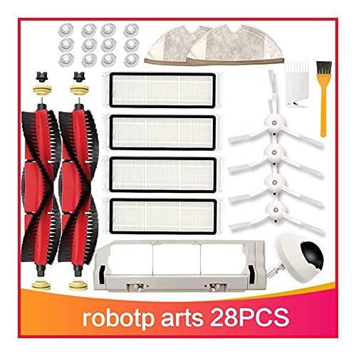Mizuho Paquete de Pincel Principal Desmontable Filtro HEPA FIT para XIAOMI ROBOROCK S6 S60 S65 S5 T6 S55 E25 E35 Tano Piezas de Repuesto de Tela (Color : Dark Khaki)