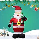 Papá Noel Hinchable Inflable Decoración De Navidad Iluminación con Leds Luces De Exterior Interior Decoración Navideña Yarda Arco Adorno para Jardín,B