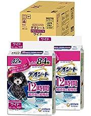 【Amazon.co.jp限定】 デオシート 犬用 シート PREMIUM 12時間超消臭 超吸収 ワイド 84枚(42枚×2) おしっこ ペット用品 ユニチャーム 犬