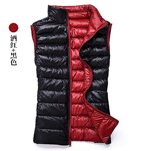 YUHOOE Damen Daunenweste,Reversible Ente Unten Achsel-Hemd Tragbare Frauen Kragen Jacke Winter Herbst Warme Weste Weiblich Stand