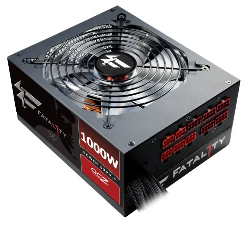 PC Power & Cooling Fatal1ty Gaming Series 1000 Watt (1000W) 80+ Gold Semi-Modular Active PFC Performance Grade ATX PC Power Supply 5 Year Warranty OCZ-FTY1000W