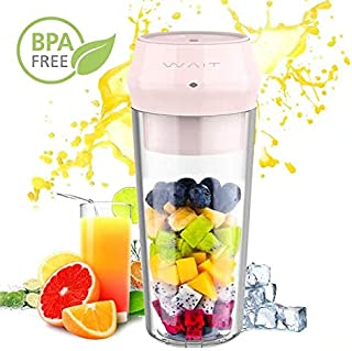 Portalble Personal Blender, Portable Personal Smoothie Fruit Juicer Cup with Hidden 304 Stainless Steel Blade with Lock Indicator and Juicer Mixer with USB Type-C Fast Charging for Gym, Office, Travel