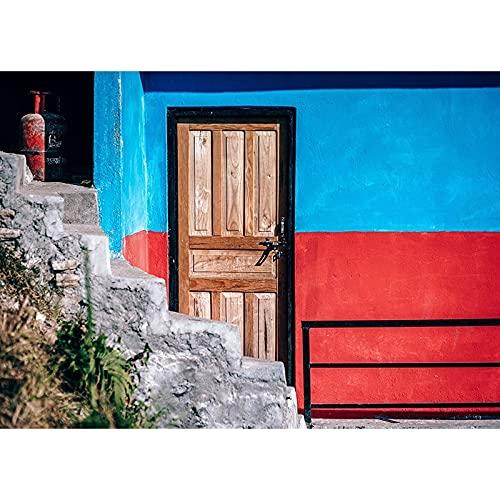 Fondo de fotografía de Vinilo Simple Accesorios de Fondo de fotografía de Tema de Puerta de Madera clásica Accesorios de fotografía A1 10x10ft / 3x3m