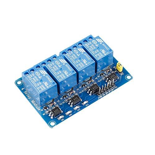 SunFounder 4 Channel 5V Relay Shield Module for Arduino R3 MEGA 2560 1280 DSP ARM PIC AVR STM32 Raspberry Pi