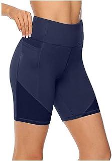 Beishi Womens Workout Short Pants, Women's High Waist Yoga Short Abdomen Control Training Running Yoga Pants