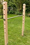 Einfach-Turnreck aus V2A Edelstahl mit 1,97 m Pfosten