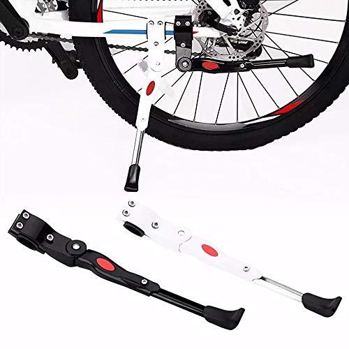 HGDM Pata De Cabra para Bicicleta, Aluminio Soporte Ajustable del Retroceso De Bici Caballete Bicicleta Universal Bike Stand para 22'- 26' MTB Montaña Carreter Plegables Bicicletas(2 PCS)
