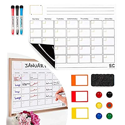 Magnetic Dry Erase Calendar and Weekly Planner....