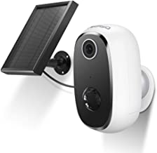AKASO Wireless Outdoor Security Camera, WiFi Solar and Rechargeable Battery Indoor Home Security Camera, Alexa/Google Home...