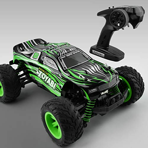 GizmoVine Remote Control Car RTR 1:16 Scale 45 Km/h Speed 4WD RC Truck, IPX-5 Water Resist Off Road Racing Electric 4x4 Monster Truck Toy Vehicle with Rechargeable Batteries for Adults Boys