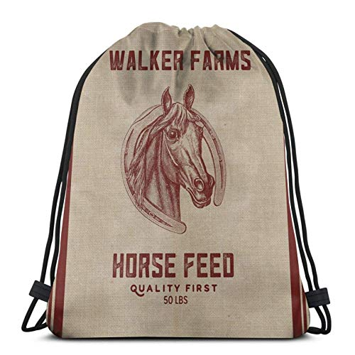 Walker Farms Pferdefutter Vintage Sa Kordelzug Sport Fitn Bag Reisetasche Geschenktüte