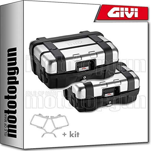 givi portamaletas lateral + maletas lateral trekker trk33npack2 compatible con suzuki dl 650 v-strom 2020 20