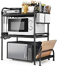 Home Living Museum/Kitchen Shelf Floor Multi Layer Microwave Oven Storage Shelf Storage Rack Storage Rack Shelf Metal Cupb...