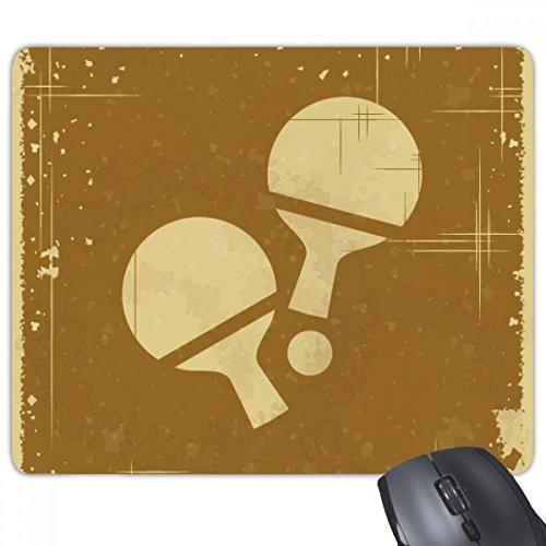 beatChong Tischtennis Sport Illustration Muster Anti-Rutsch-Gummi Mousepad Spiel Büro Mauspad Geschenk