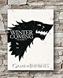 Huawuque Game of Thrones Winter is Coming Stark Poster Standard Size | 18-Inches by 24-Inches | Game of Thrones Posters Wall Poster Print