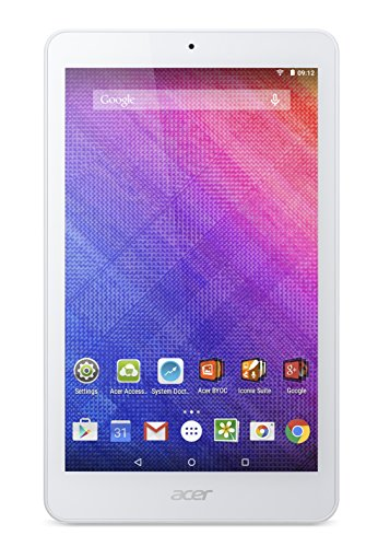 Acer Iconia One B1-820 8 inch Tablet (Intel Atom Z3735G 1.33 GHz, 1 GB RAM, 16 GB Memory, Camera, Android 4.4) - White