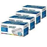 ECSC Rigenerato Toner Cartuccia Sostituzione Per Lexmark CX310dn CX310dnw CX310n CX410de CX410dte CX410e CX510de CX510dew CX510dhe CX510dthe 802K/C/M/Y (Nero/Ciano/Magenta/Giallo, 4-Pack)
