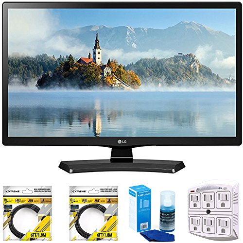 Best Review Of LG 24 Class 23.6 Diag HD 720p LED TV 2017 Model (24LJ4540) with 2X 6ft High Speed H...