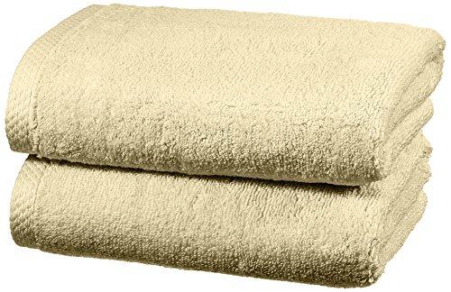 Amazon Basics - Juego de 2 toallas de secado rápido, 2 toallas de mano - Beige