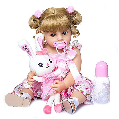 Zero Pam Lifelike 22 inch 55 cm Alive Reborn Baby Doll Realistic Handmade Reborn Girl Doll Full Body Silicone Vinyl Doll (#2004)