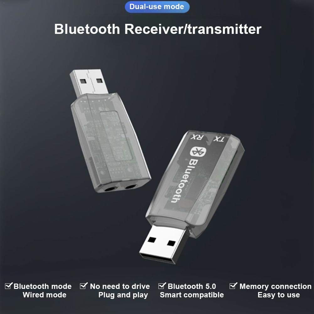 Following Adaptador Bluetooth 2 En 1, Receptor De Transmisor Bluetooth USB Universal 5.0, Adaptador Inalámbrico Bluetooth De Audio para Computadora De TV Cozy: Amazon.es: Hogar