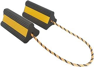 Fasmov Heavy-Duty Rubber Wheel Chock with Nylon Cord