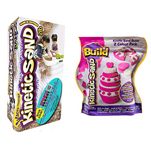 ラングスジャパン 室内砂遊び用品 キネティックサンド+ビルドお得セット 2LB&ピンク・ホワイト